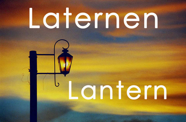 Fotogalerie Laternen / Photogallery Lantern
