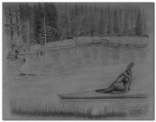 130.Skizze.Amikeus Lake + Impressions.Algonquin N.P.Canada