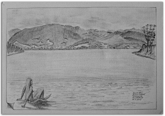 220.Skizze.Apollo Bay.Bruny Island.Tasmania.Australia