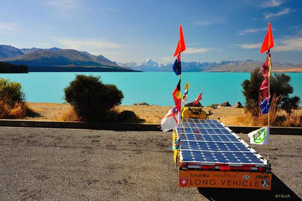 NZ: Solatrike am Lake Pukaki