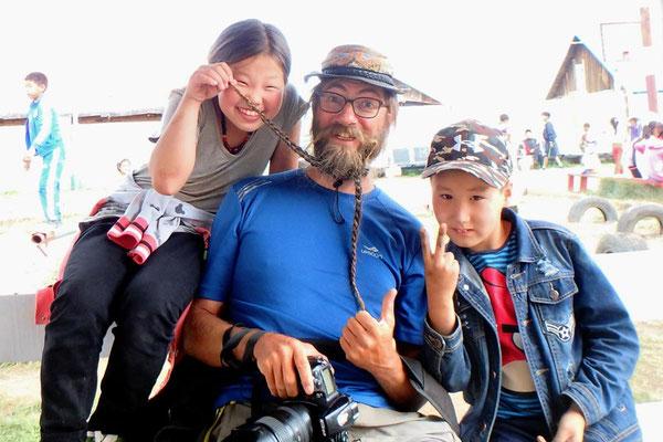 Mongolei, Ulaan Bator, Kinder bei Bayasgalant