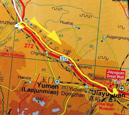 Tag 239: Yumenzhen - Jiayuguan