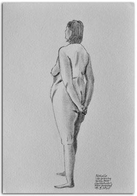254.Skizze.Life Drawing.Long pose.Natalie.Christchurch.New Zealand