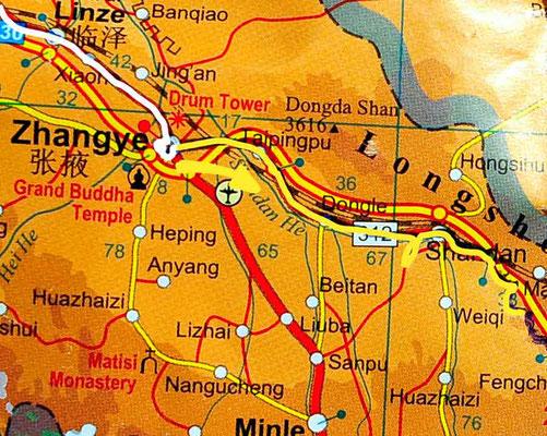 Tag 242: Zhangye - Sanshilipucun