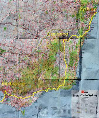Karte: Victoria+ACT+NSW