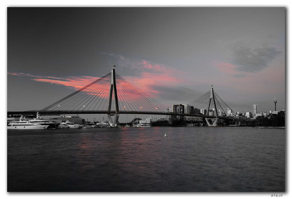 AU1709.Sydney.Glebe Point.ANZAC Bridge