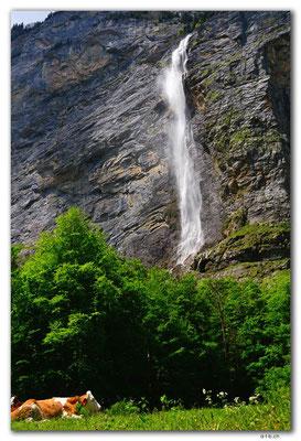 CH1043.Ägertenbachfall.Lauterbrunnen