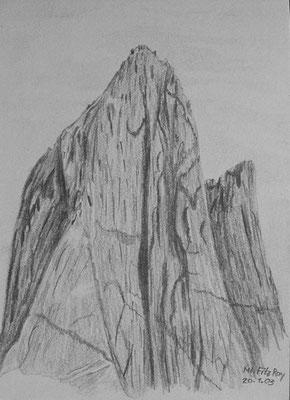 029.Skizze, Mt. Fitz Roy /Argentinien