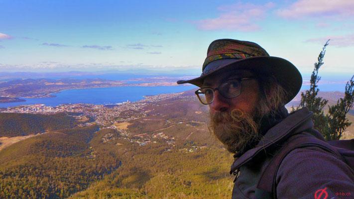 Australien.Tasmanien.Hobart bei den Orgelpfeifen mit Panoramaaussicht