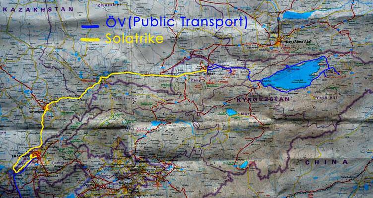 Strecke: Tashkent (UZ) - Bishkek (KG)