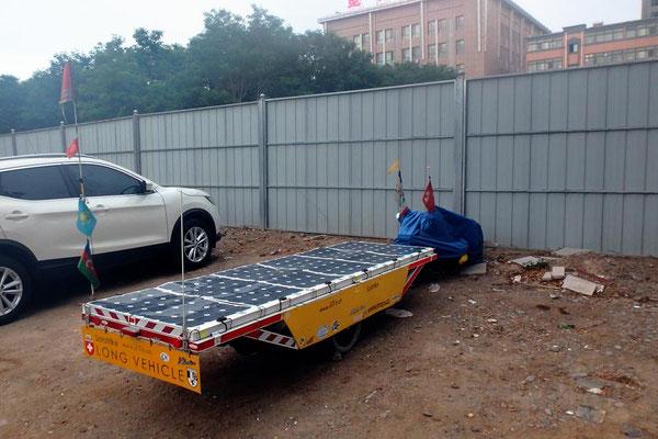CN.Solatrike in Zhongwei parkiert