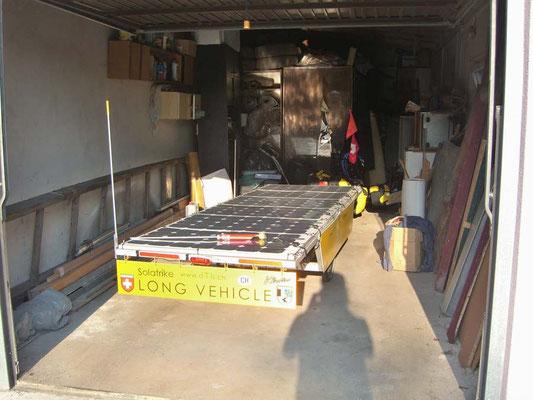 PL: Solatrike in Garage verstaut