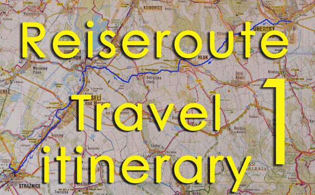 Solatrike Reiseroute 1 / Travel itinerary 1