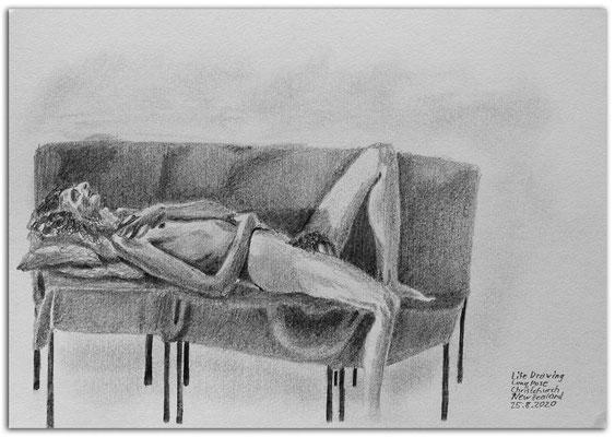 246.Skizze.Life drawing long pose.Martin.Christchurch.New Zealand