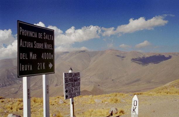 Argentina.Paso del Aguila 4000m