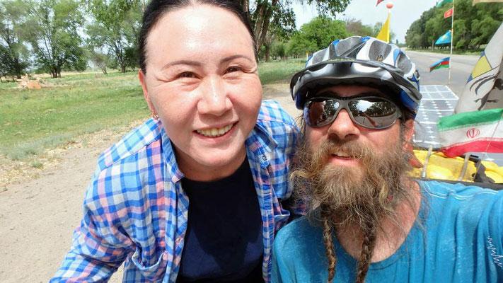 Solatrike.KZ.Kasachin / with a Kazakh woman