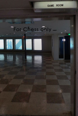 Ferry China - South Korea. Game room for chess only