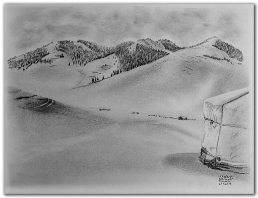 175.Skizze.Khotont Arkhangai (Orkhon Valley).Mongolia
