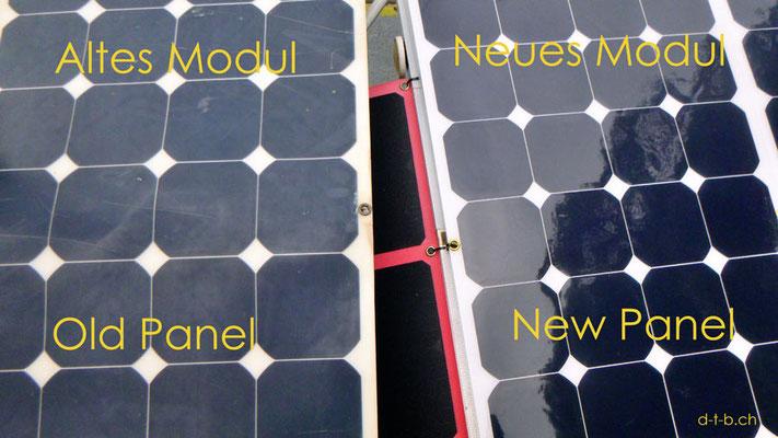 AU: Solatrike, Vergleich vom alten und neuem Solarmodul