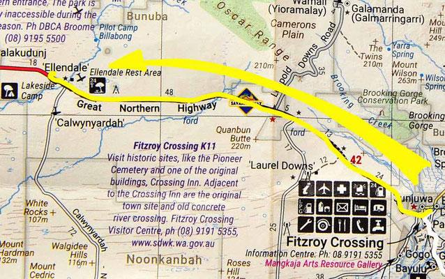 Tag 308: Fitzroy Crossing - Ellendale Lake