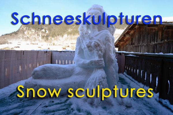 Schneeskulpturen / Snow sculptures