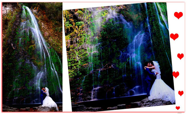 VN0070.Sapa.Love Waterfall.Wedding Photo