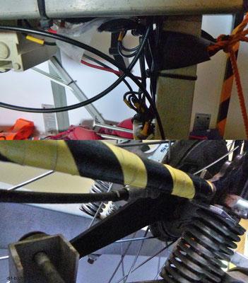 NZ: Solatrike mit neuen Bremskabel am Anhänger