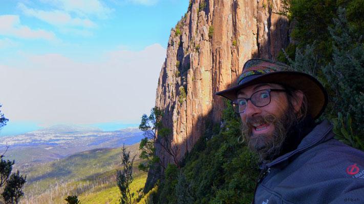 Australien.Tasmanien.Hobart bei den Orgelpfeifen mit Aussicht