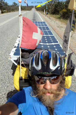 AU:Solatrike Speed rekord: 61,71 km/h