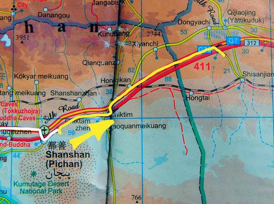 Tag 230: Shanshan - Dongyachi
