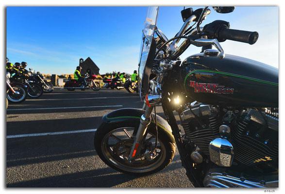 NZ0796.Lake Tekapo.Harley Davidson Charity ride