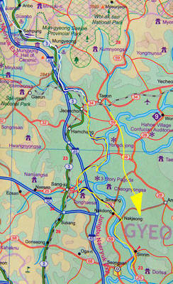 Tag 276: Mungyeong - Ilseon-ri (Karte, Ganze Strecke)