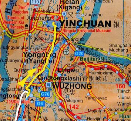 Tag 248: Qingtongxia - Yinchuan