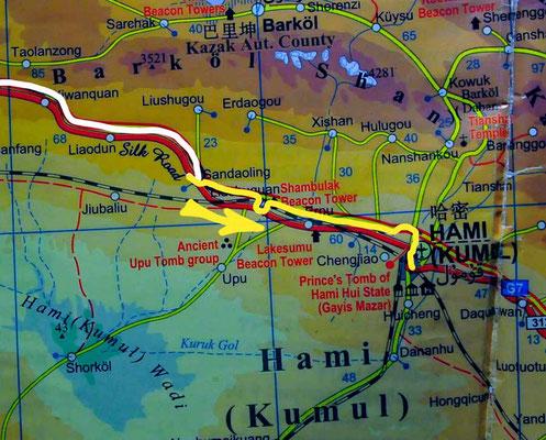 Tag 232: Sandaoling - Hami (Kumul)