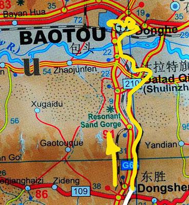 Tag 254: Dongsheng 东胜区 - Baotou 包头市
