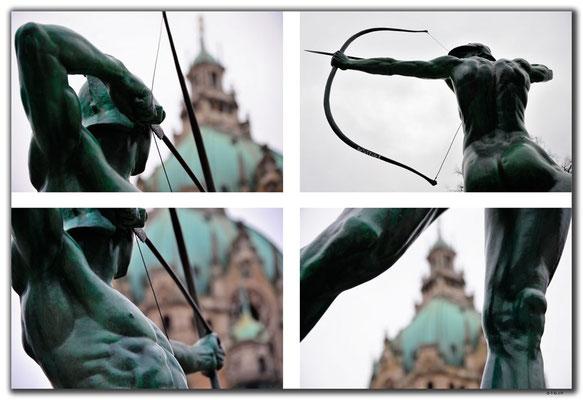 DE338.Hannover.Rathaus.Bogenschütze
