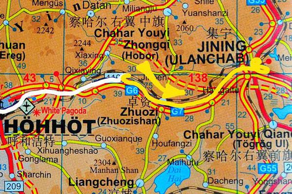 Tag 258:  Sandao Ying 三道营 -  Jining 集宁区