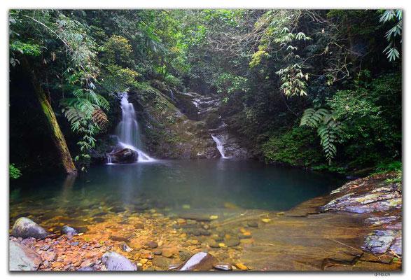VN0187.Bach Ma N.P.Wasserfall und Pool