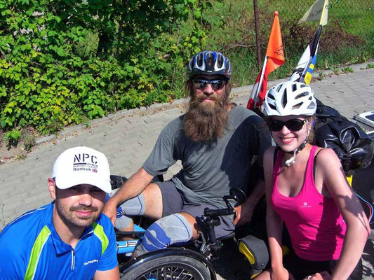 PL: Solatrike und Fahrradreisende unterwegs