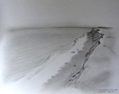 078.Skizze, Ostseeküste bei Jürkalne /Lettland