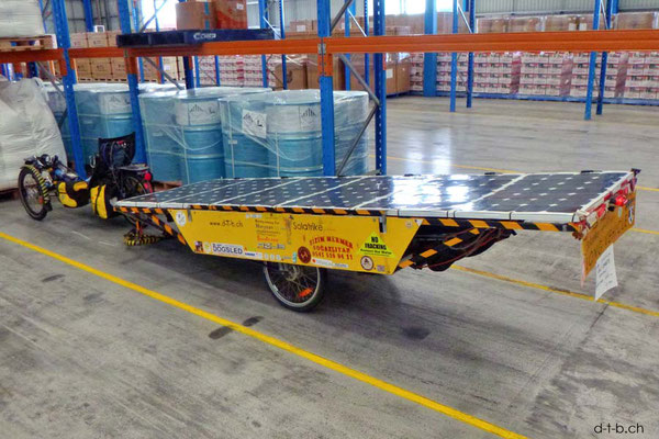 AU: Solatrike fertig für den Transport nach Neuseeland
