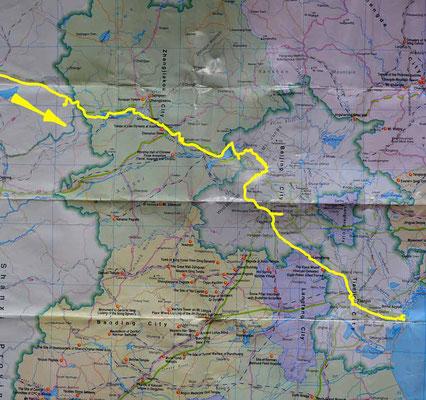 Übersichtskarte letzter Abschnitt - Map last part