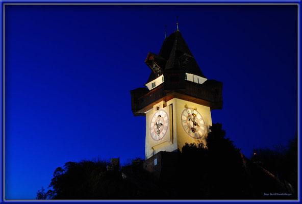 A0458.Uhrturm by night.Graz.AT