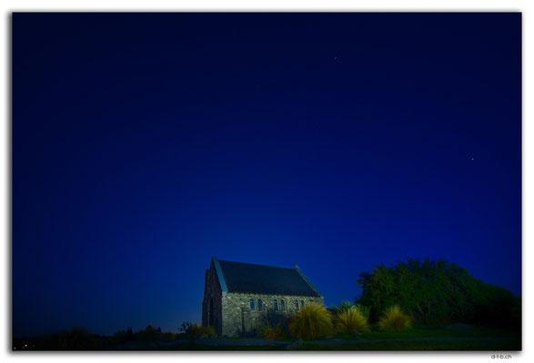 NZ0781.Lake Tekapo.Church of the good Shepherd at Full Moon
