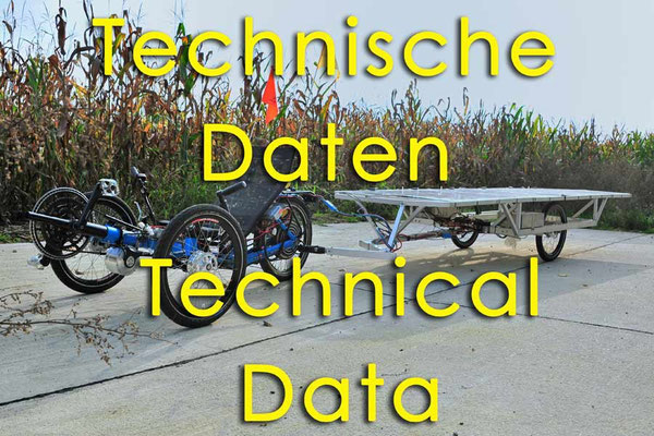 Solatrike, Technische Daten, Technical data
