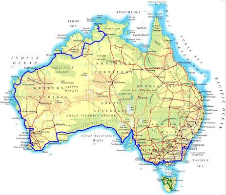 Karte: Australien