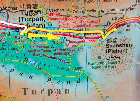 Tag 229: Turfan - Shanshan
