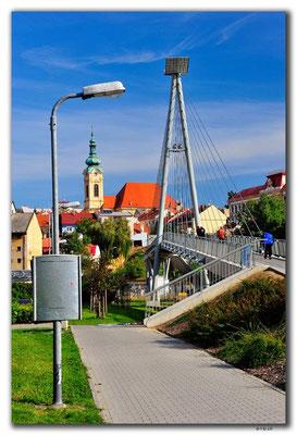 Tschechien.Uherský Brod.Fussgängerbrücke