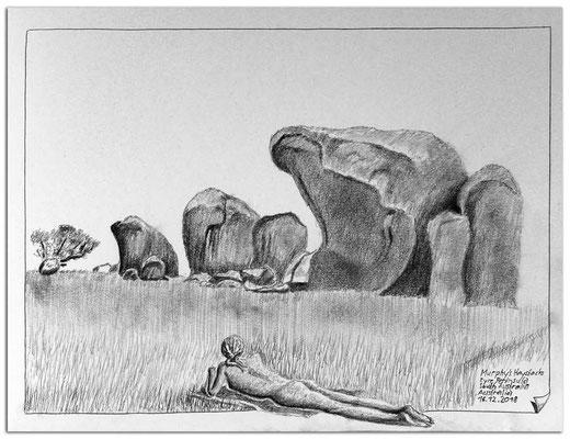 201.Skizze.Murphy's Haystacks.Eyre Peninsula.South Australia.AU