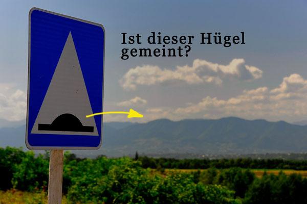 Georgien.Achtung Hügel